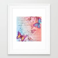butterflies Framed Art Prints featuring butterflies by haroulita