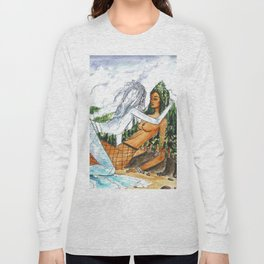 PNW Fishnets - Earth and Sky Goddess Kiss Painting Long Sleeve T-shirt
