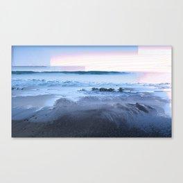 San Simeon Sunrise Pixel Sort Canvas Print