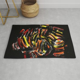 The Devil Painting Acrylic on Paper Rug