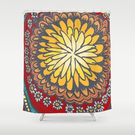 flower fun, doodles for you, custom flower pattern, Shower Curtain