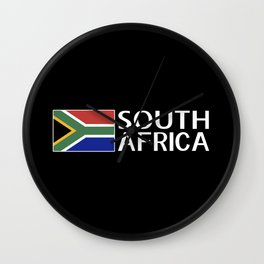 South Africa: South African Flag & South Africa Wall Clock