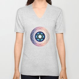 Jewish Star of David Unisex V-Neck