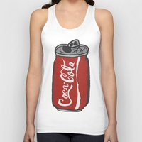 coke Tank Tops featuring COKE 4EVR by Josh LaFayette