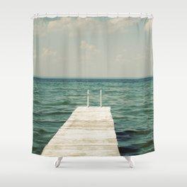 Mint Lake Escape  Shower Curtain