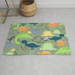 Dinosaurs jungle pattern Rug