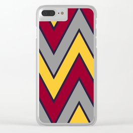 Chevron Sunset Clear iPhone Case
