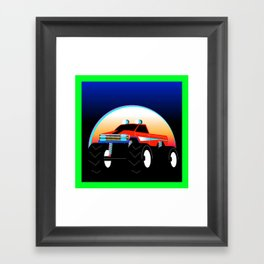 Monster Truck Framed Art Print