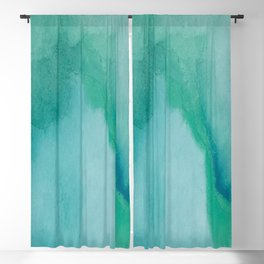 Shades of Green Watercolor Blackout Curtain