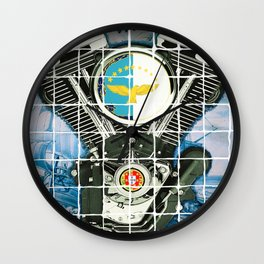 Traditional Portuguese Tile Biker Style Wall Clock