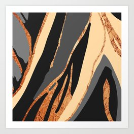 Bronze River Art Print