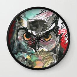 Owl Lightning Wall Clock