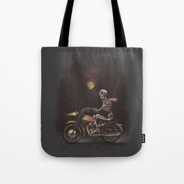 Death Rides in the Night Tote Bag