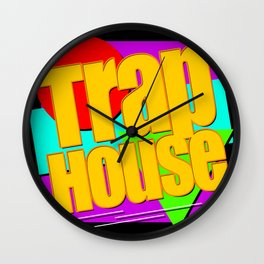 Trap House Square Logo Wall Clock