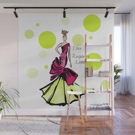 Ice Cream Rapberry Lemon Wall Mural