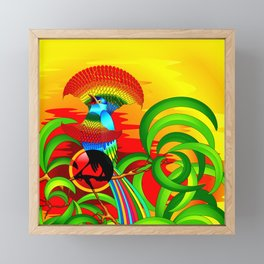 Paradise Bird Framed Mini Art Print
