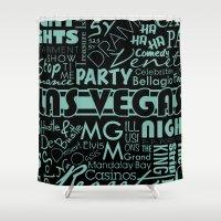las vegas Shower Curtains featuring Las Vegas by Chelsea Dianne Lott