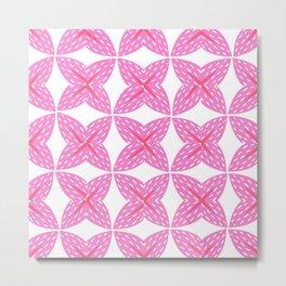 Pink Starfruit Metal Print