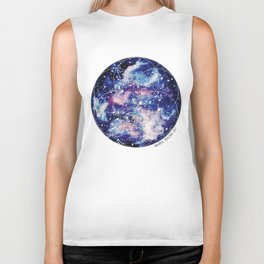 Nebula Planet with Seed of Life Biker Tank