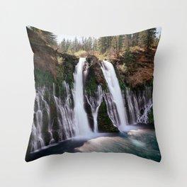 Burney Falls Panorama Throw Pillow