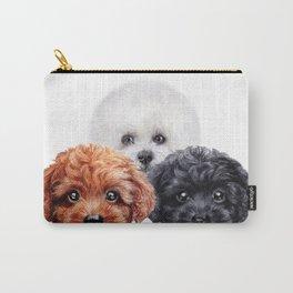 Friends mix. toy poodle & Bichon Carry-All Pouch