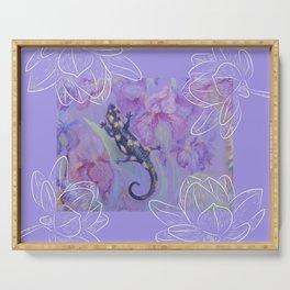 Salamander & Flowers Serving Tray