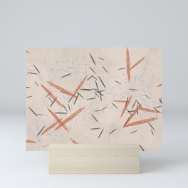 Falling Pins Autumn Speckles Mini Art Print