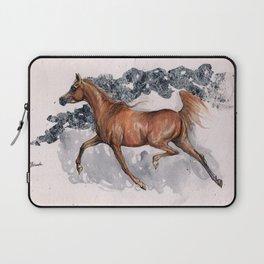 Arabian horse watercolor art Laptop Sleeve