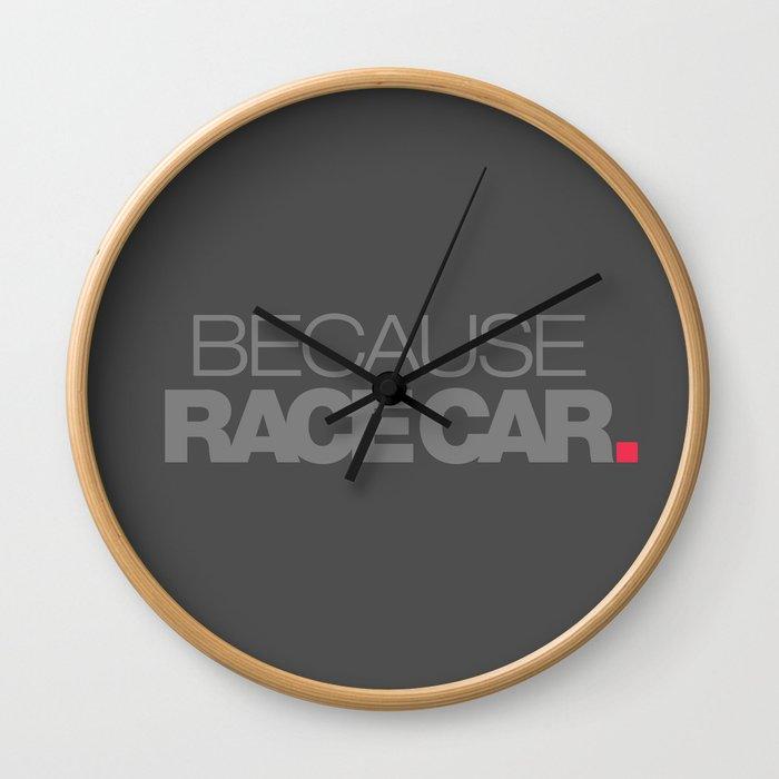 BECAUSE RACE CAR v4 HQvector Wall Clock