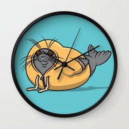 Hooded Seal II Wall Clock