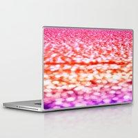 glitter Laptop & iPad Skins featuring Sunset Glitter Sparkles by WhimsyRomance&Fun