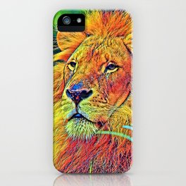 AnimalColor_Lion_005_by_JAMColors iPhone Case