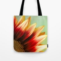 sunflower Tote Bags featuring Sunflower by Wood-n-Images