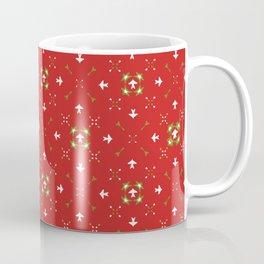 Red Festive Star Snow Flake Lattice Winter Coffee Mug
