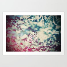 Butterfly motions Art Print