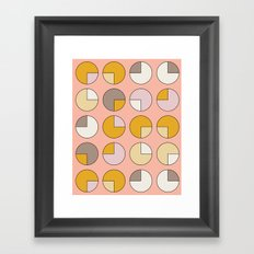 Pie Pink Framed Art Print