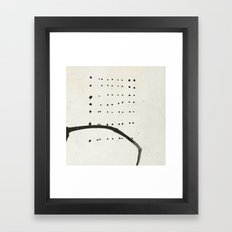 « tempête de neige » Framed Art Print