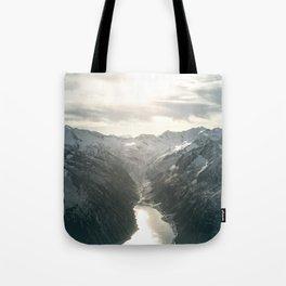Mountain Panorama Tote Bag