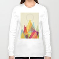 mountain Long Sleeve T-shirts featuring Holy Mountain by Picomodi