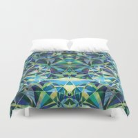 diamond Duvet Covers featuring Diamond by Marta Olga Klara