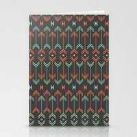arrow Stationery Cards featuring Arrow by Priscila Peress