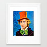 willy wonka Framed Art Prints featuring Wonka by Jordan Soliz