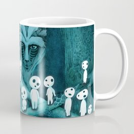 Kodama and the Forest Spirit Coffee Mug