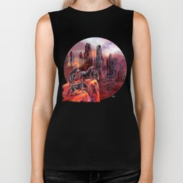 Wolves of Future Past landscape Biker Tank