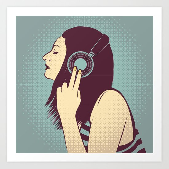 loud silence Art Print