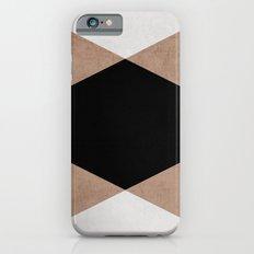 natural, cream and black triangles Slim Case iPhone 6