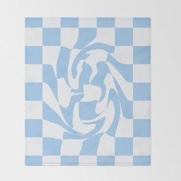 Checker Swirl  Throw Blanket