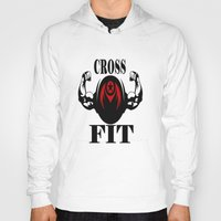 crossfit Hoodies featuring CROSSFIT 1 by Robleedesigns