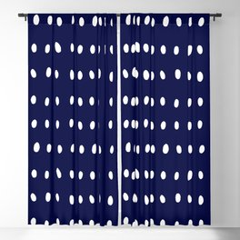 Dots and Spots Moonlight Blue Blackout Curtain
