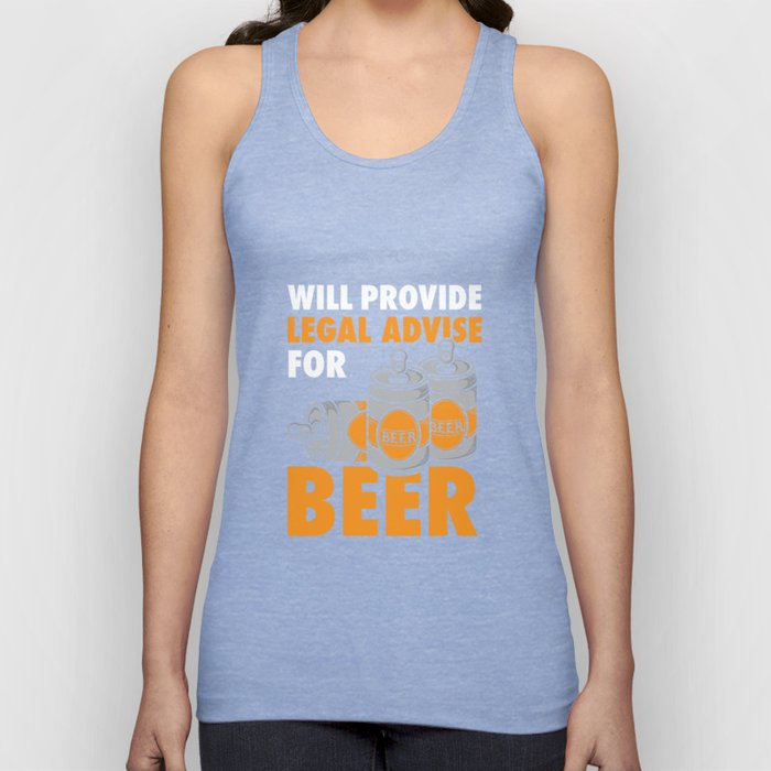Lawyers - Legal Advice For Beer Unisex Tank Top